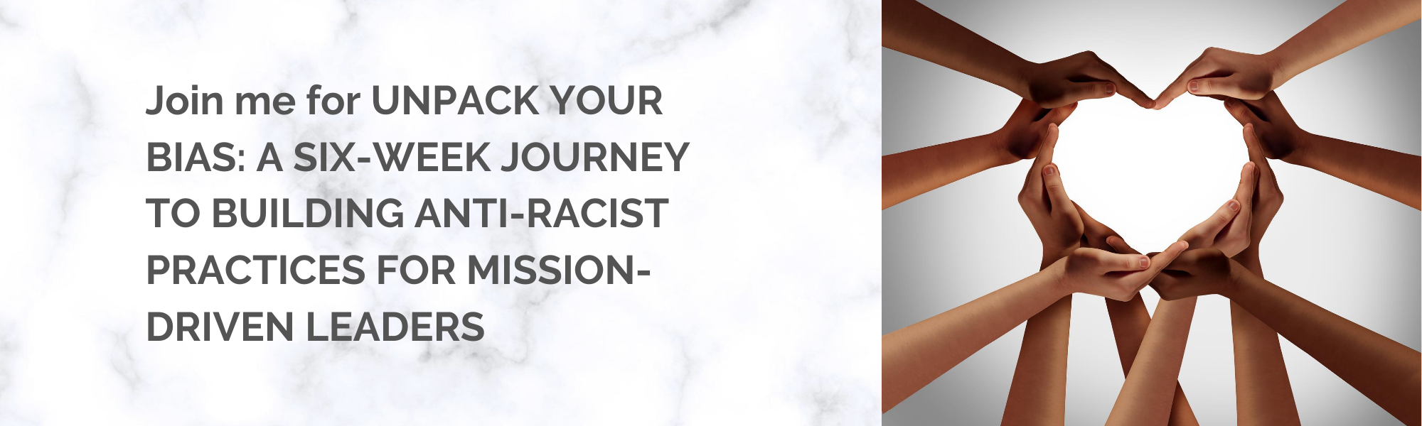 UNPACK YOUR BIAS: A SIX-WEEK JOURNEY TO BUILDING ANTI-RACIST PRACTICES FOR MISSION-DRIVEN LEADERS