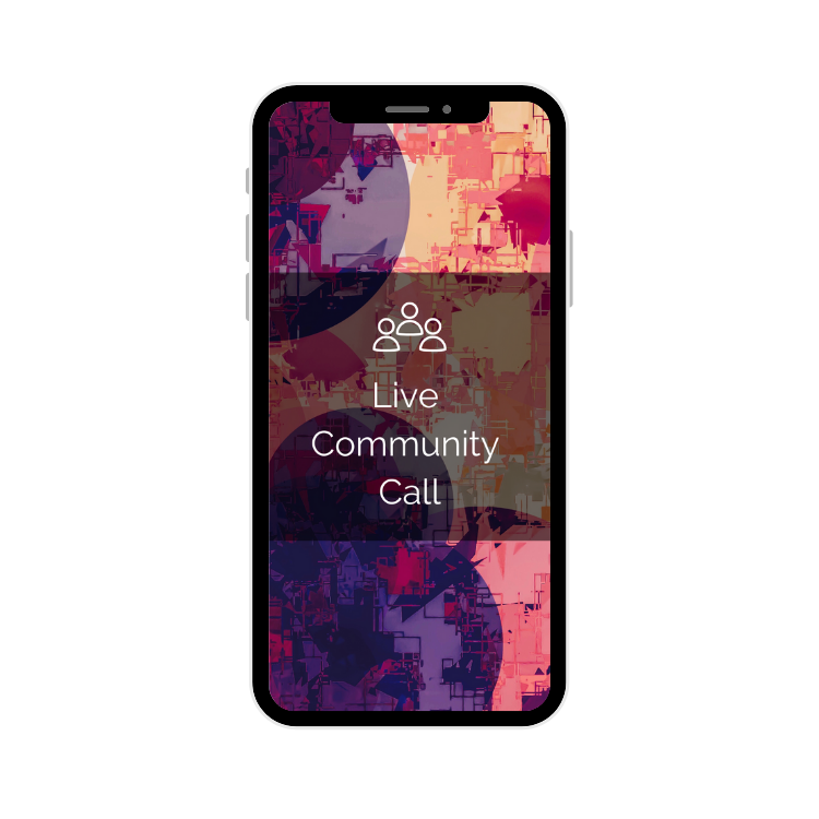 Image of a mobile phone with colourful mosaic image displayed with the words